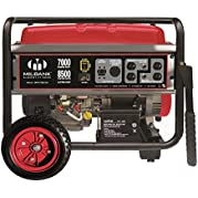 Milbank Portable Generator with Electric Start, 7000W