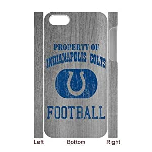 SUNNYGOOD Best Design Print Indianapolis Colts Custom Luminous Case for IPhone 4/4s 3D