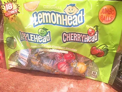 (lemon head jumbo hard candy balls)