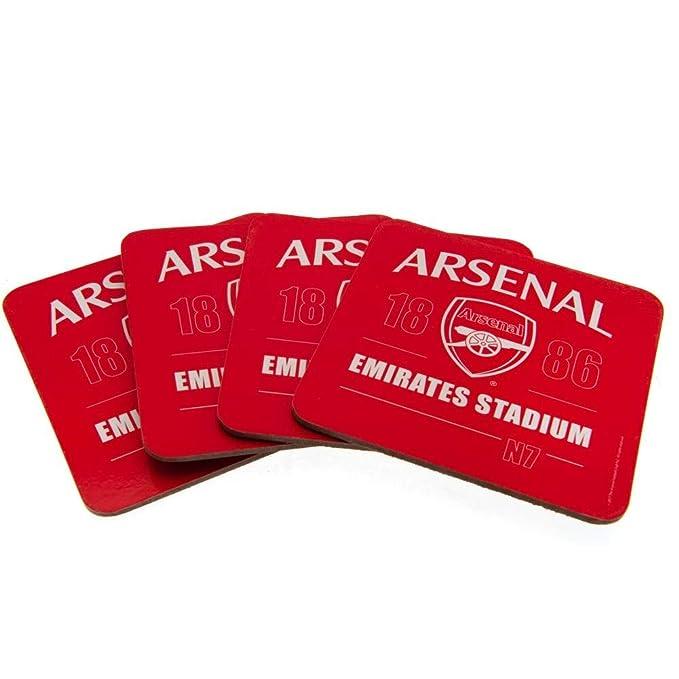 Amazon.com: Arsenal FC - Juego de posavasos (4 unidades ...