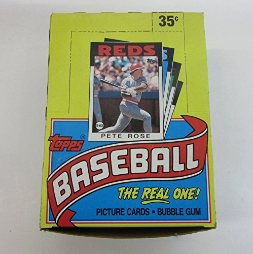 1986 Topps Baseball Wax Box Unopened Wax Pack