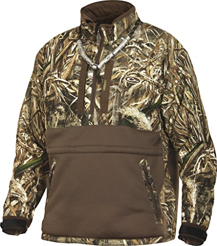 Drake Men's LST Heavyweight Eqwader 1/4 Zip, Realtree Max-5, X-Large