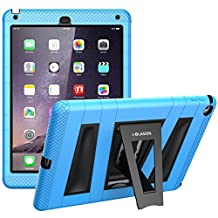 iPad Air 2 Case, i-Blason ArmorBoxDual Layer Protective Case for Apple iPad Air 2 (iPad 6) 9.7 Inch iOS 8 Tablet [Kickstand / with Bulit-in Screen Protector] for Kids Friendly - Blue /Black