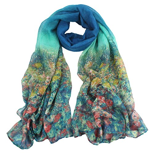 Tonsee Women's Floral Print Long Scarf Shawl Wrap (Print Long Scarf)