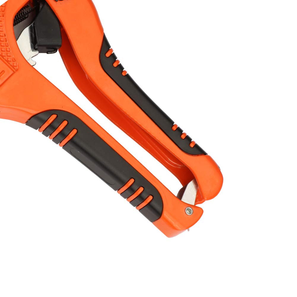 AIRAJ PVC Cutter Ratchet-type Pipe Cutter for Cutting PVC PPR Plastic Hoses and Plumbing Pipes Up to 1-1/4 inches, Suitable for Electrician and Woodworking Tools