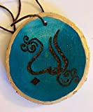 Handmade Woodburned Arabic Calligraphy Ornament With The Message of Love