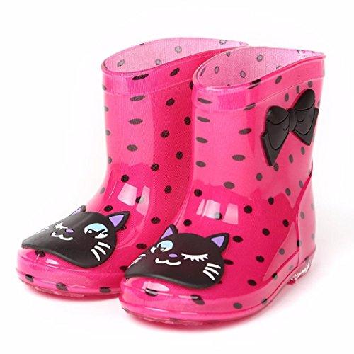 Hunpta Wasserdichte Kind Tier Gummi Infant Baby Regen Stiefel Kinder Kinder Regen Schuhe Hot Pink