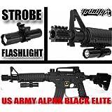 Us Army Alpha Black Elite Flashlight,us Army Alpha Black Elite Strobe Flashlight,us Army Alpha Black Paintball Gun Flashlight,us Army Alpha Black Elite Paintball Marker 180 Lumens Flashlight