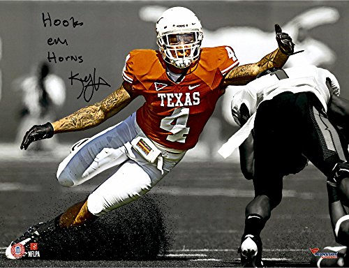 Kenny Vaccaro Texas Longhorns Autographed 11'' x 14'' Reaching For a Tackle Spotlight Photograph with Hook Em Horns Inscription - Fanatics Authentic Certified