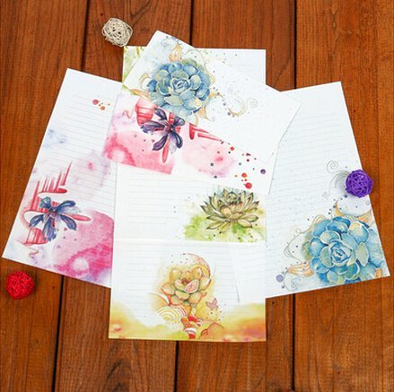 30 Cute Kawaii Lovely Design Writing Stationery Paper Letter Set with 15 Envelope (Style-2)