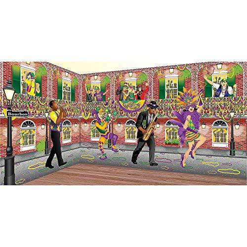 Fun Express - Mardi Gras Design A Room Musician Set for Mardi Gras - Party Decor - Wall Decor - Scene Setters - Mardi Gras - 2 Pieces -