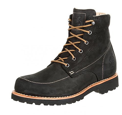 FB Fashion Boots Georgia Boot GB00173 M Small Batch Wedge Black/Herren Schnürstiefel Schwarz/Work Boot/Herrenstiefel Black (Weite M)