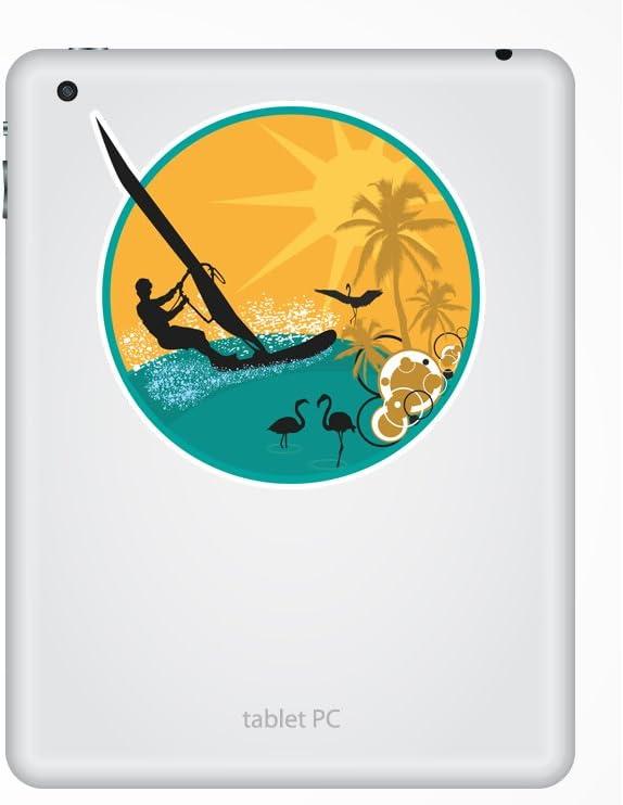2 x 15cm//150mm Wind Sailing Vinyl Sticker Extreme Thrill Seeker Travel #7132