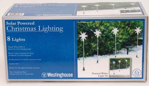 Westinghouse Solar Powered Twinkle Star Christmas Lighting - 8 Lights (Westinghouse Christmas Lights)