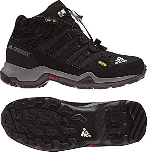 Adidas Terrex Mid Gtx K, Botas de Montaña Unisex Niños, Negro (Negbas/Negbas/Grivis), 31.5 EU