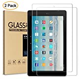 #7: All-New Fire HD 10 Screen Protector,[2-Packs] Tempered Glass Screen Protector Film for All-New Fire HD 10 Tablet with 10.1