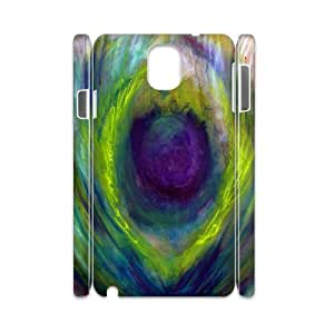 3D a Quarter at the Top of the Peacock Samsung Galaxy Note 3 Cases, Doah - White