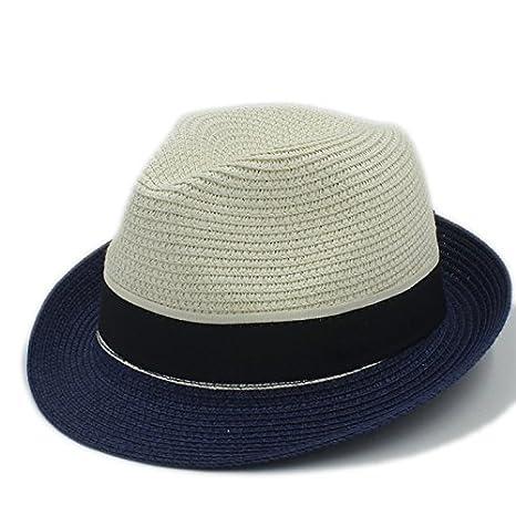 CCLLc New Fashion Donna Uomo Cappello Estivo Da Sole Per Elegante Lady  Beach Cappello Fedora Cappello b6e3fcc12499