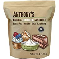 Erythritol Granules (2.5lbs) by Anthony's, Non-GMO, Natural Sweetener, Keto & Paleo Friendly