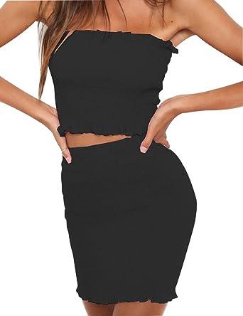 571be6a2fd Amazon.com  RUIGO ® Sexy Deep V-Neck Backless Sequin Bodycon Prom Cocktail  Dress (M