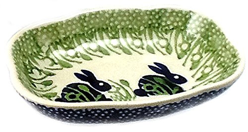 Polish Pottery Soap Dish P324 or Bunny Rabbit]()
