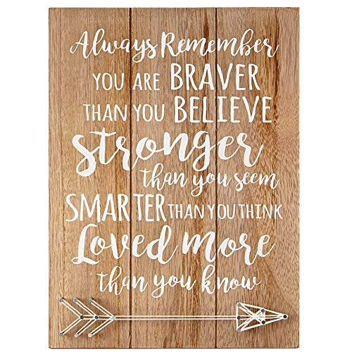 VILIGHT Woman Men Graduation Gift – Doctorate Wall Art Quotes Positive Signs – You Are Braver Than You Believe – 12×8.6…