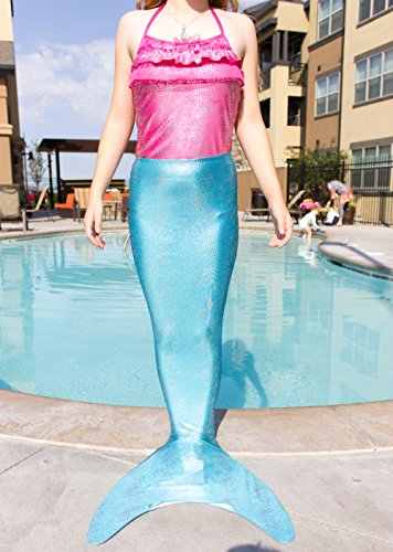 Shimmertail Mermaid Swimwear - Turquoise Shimmer, 9-10 (Large)