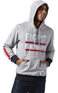 Reebok Men s Fight for Yours UFC Fan Hoodie Training Sweatshirt (AJ9015) 25bfdf603b