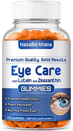 NASA Beahava Eye Vitamins (100 Count) Eye Care Gummy Supplements with Lutein and Zeaxanthin - Sugar-Free Gummies with All Natural Ingredients, Vision Support, Vegan, Kosher