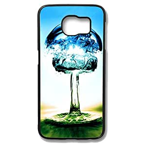 Samsung Galaxy S6 Case - Color Drop Protective Case Soft Flexible TPU Skin Scratch-Proof Case for Samsung Galaxy S6 Black