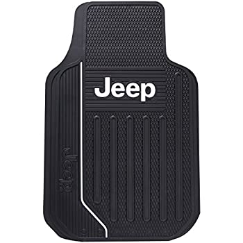 Amazon Com Jeep Logo Rubber Floor Mats Pair Automotive