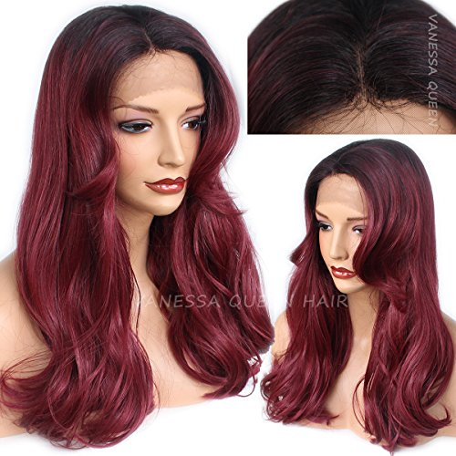 Vanessa Queen Lace Front Wigs Synthetic Burgundy Ombre for sale  Delivered anywhere in Canada