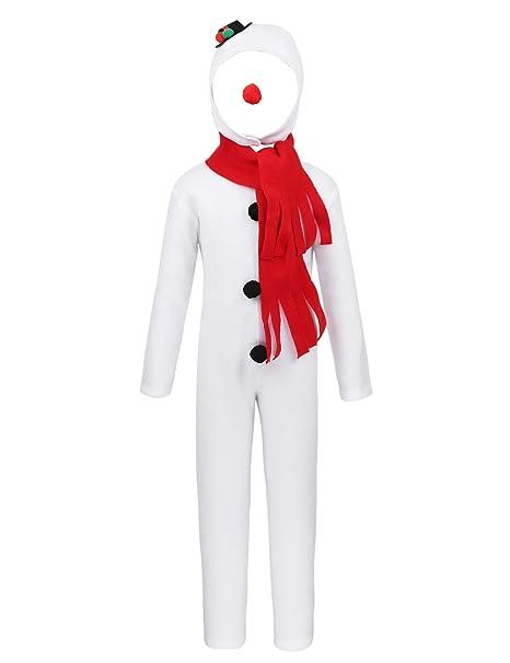 ranrann Disfraz de Muñeco de Nieve para Niñas Niños Jumpsuit ...