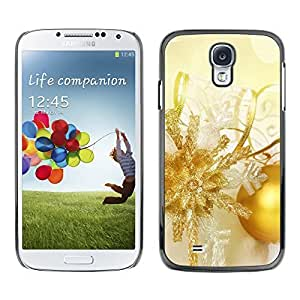 YOYO Slim PC / Aluminium Case Cover Armor Shell Portection //Christmas Holiday Gold Decorations 1304 //Samsung Galaxy S4