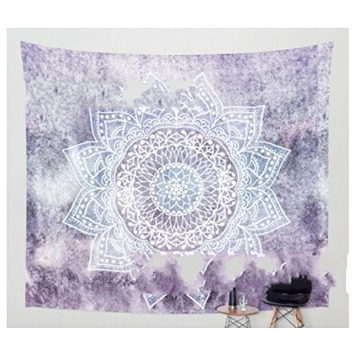 YGUII Hippie Mandala Blue Tapestry Multi Purpose Cotton Decorative Wall Hanging 150130cm(59''51'') by YGUII