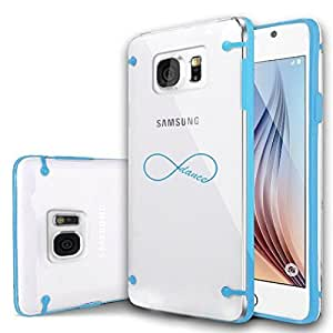Samsung Galaxy S6 Ultra Thin Transparent Clear Hard TPU Case Cover Infinity Infinite Dance Forever (Light Blue)