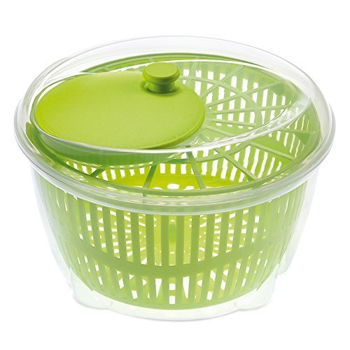 Large Salad Spinner Vegetable Veg Leaf Dryer Drainer Colander Plastic Bowl UK Buy Zone