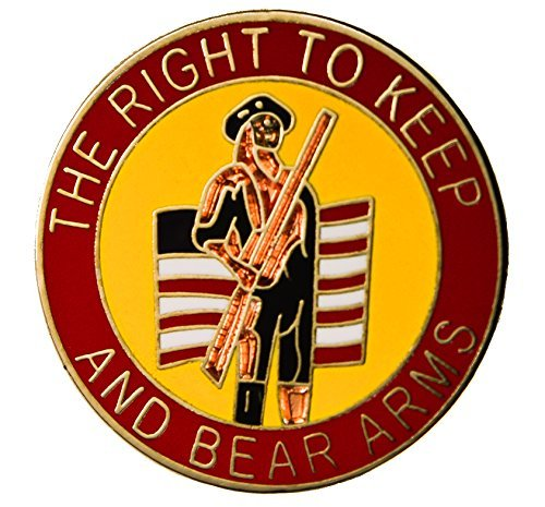 The Right to Keep and Bear Arms 2nd Amendment Hat or Lapel Pin HON14920 Gun Pin