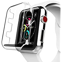 Apple Watch Series 3 Case, Benuo [Defender Series] Protective HD Clear PC Screen Protector [Ultra Thin], Lifetime Replacements Cover Case for Apple Watch Series 2/Edition/Nike+ 42mm