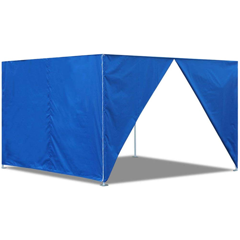 Eurmax Two Sidewalls for 10x10 Pop up Canopy, Removable Zipper End (2 Walls Only) (White)