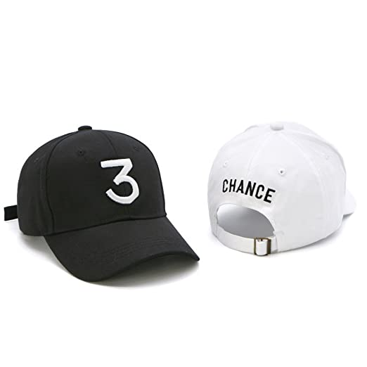 0dd53f3fe50 IVYRISE 2 Pack Fashion Embroider Baseball Chance Caps Hats Cool Baseball  Rapper Caps with Number 3