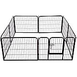 Outsunny - Recinto per cani gatti cuccioli roditori - Recinzione Rete Gabbia 80x60cm 8pz