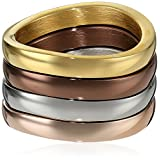 Multi Ion-Plated Stainless Steel Stackable Ring Set