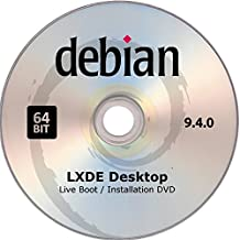 Debian Linux, Live Boot / Installation DVD, Version 9.4.0, Lxde Desktop, 64bit