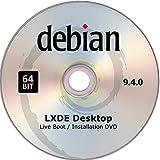 Debian Linux, Live Boot / Installation DVD, Version 9.4.0, Lxde Desktop, 64bit