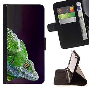 Momo Phone Case / Flip Funda de Cuero Case Cover - Lizard Commando - Samsung Galaxy E5 E500