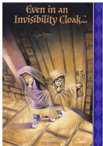 Harry Potter Invisibility Cloak Halloween Card with Envelope & USPS Postage (Halloween Cards To Print Out)