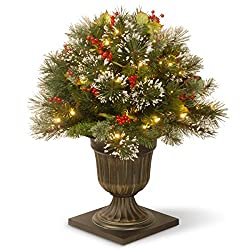 National Tree WP3-300-18PB Wintry Pine Porch Bush with Cones and Red Berries, 18