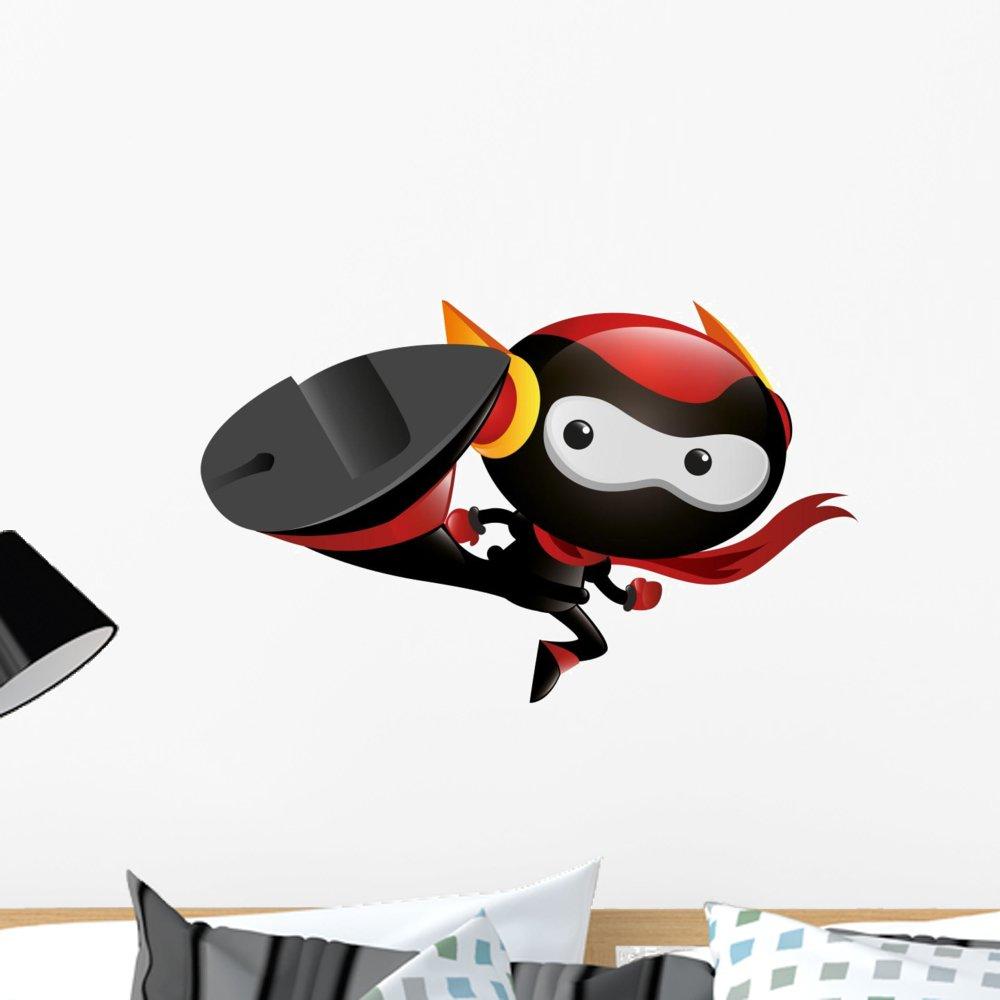 Amazon.com: Wallmonkeys Robot Ninja Kick Wall Decal Peel and ...