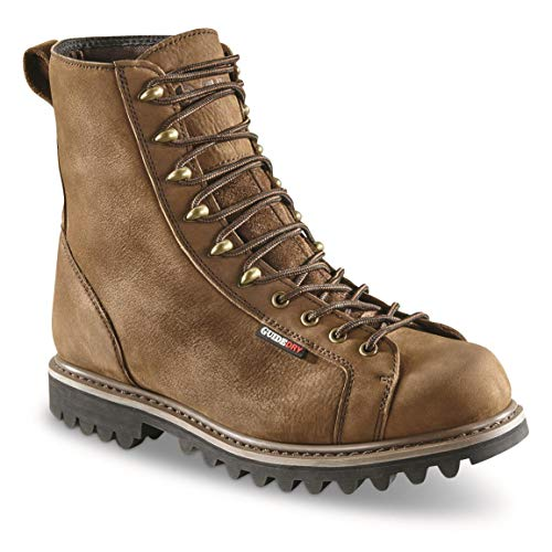 """Guide Gear Men's 8"""" Waterproof Insulated Lace-to-Toe Boots"""